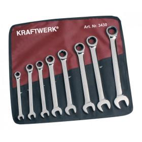 Jeu de clés combinées à cliquet en pouce 8 pièces KRAFTWERK