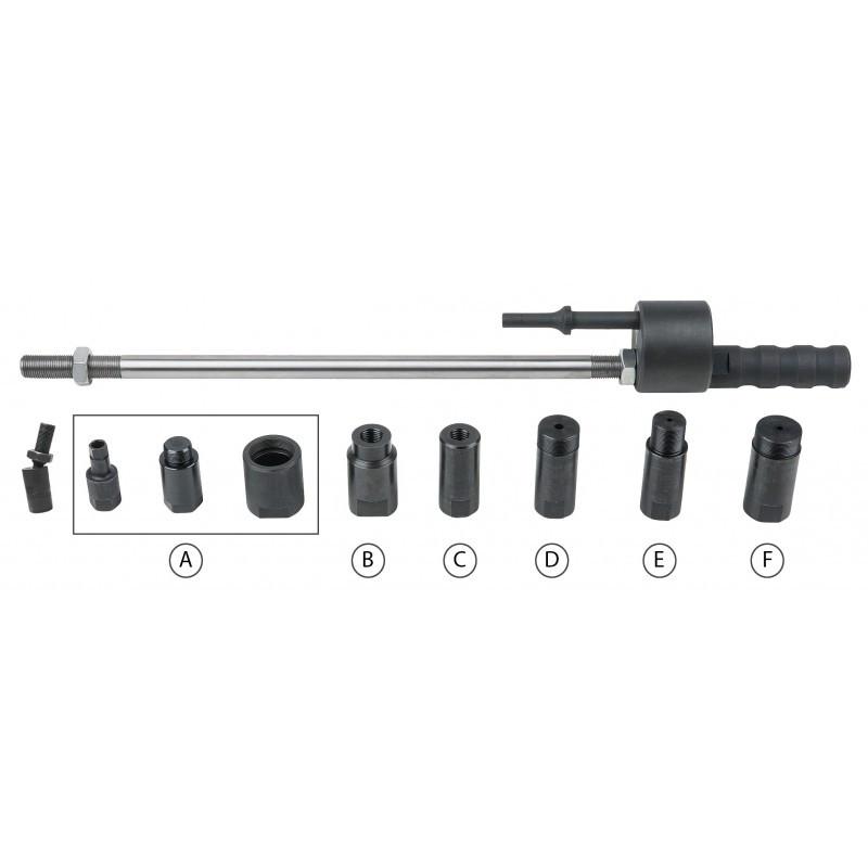 Coffret d'extracteurs d'injecteurs 10 pièces KS TOOLS