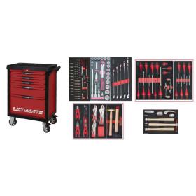 Servante ULTIMATE 5 tiroirs avec composition d'outils pour la carrosserie  + 154 pièces KS TOOLS
