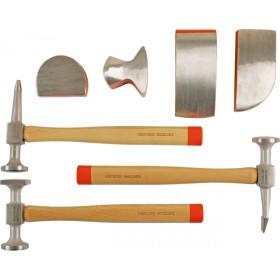 Coffret d'outils pour carrosserie aluminium KS TOOLS