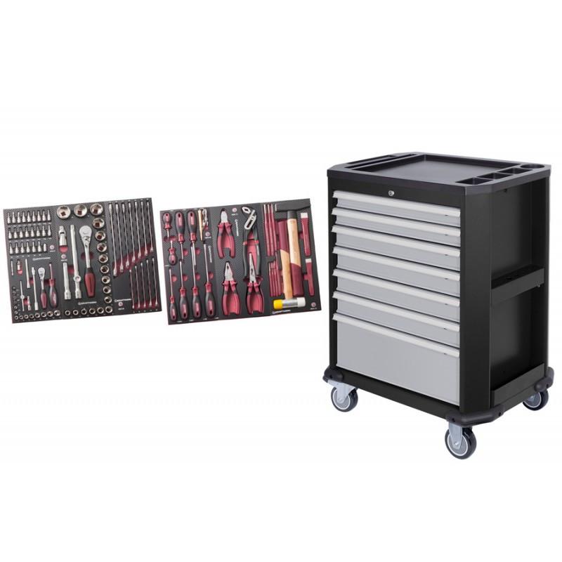 Servante d'atelier 7 tiroirs avec 104 outils COMPLETO EVA3 HIGHTECH KRAFTWERK