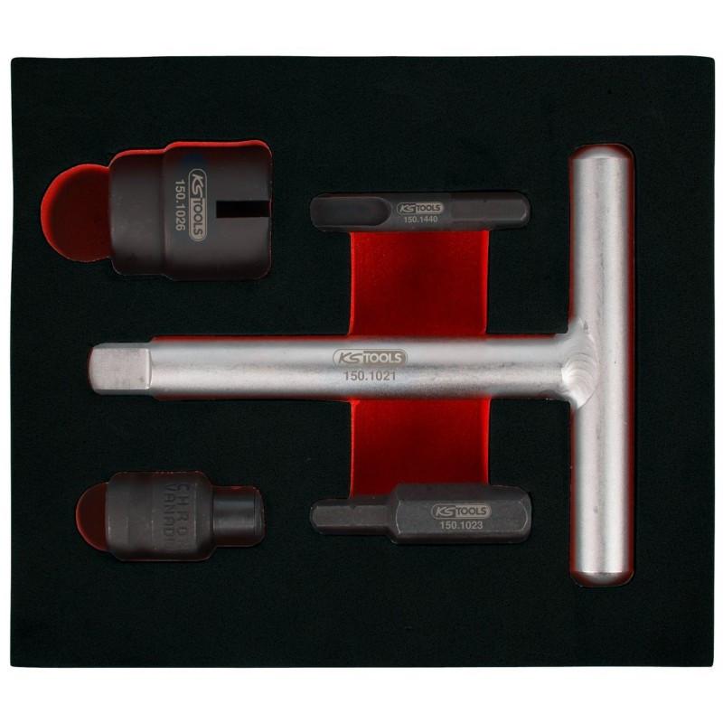 """Kit pour vis de vidange carter plastiques 1/4"""" - 3/8"""", 5 pcs KS TOOLS"""