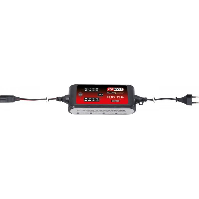Chargeur de batterie 12V-6V/4A KS TOOLS