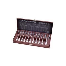"""Coffret de douille-embouts Torx 1/2"""" 23 pièces Kraftwerk"""