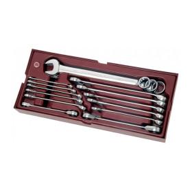 Coquille 15 Pièces de clés mixtes et Clés à Cliquet en pouce COMPLETO KRAFTWERK