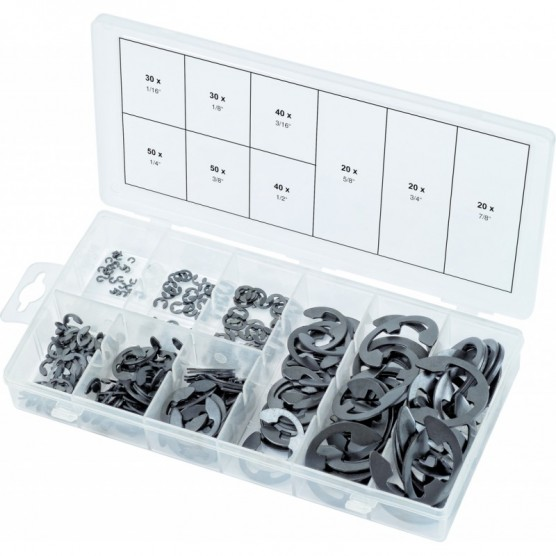 Assortiment de Circlips de type E en pouces 300 pcs KS TOOLS