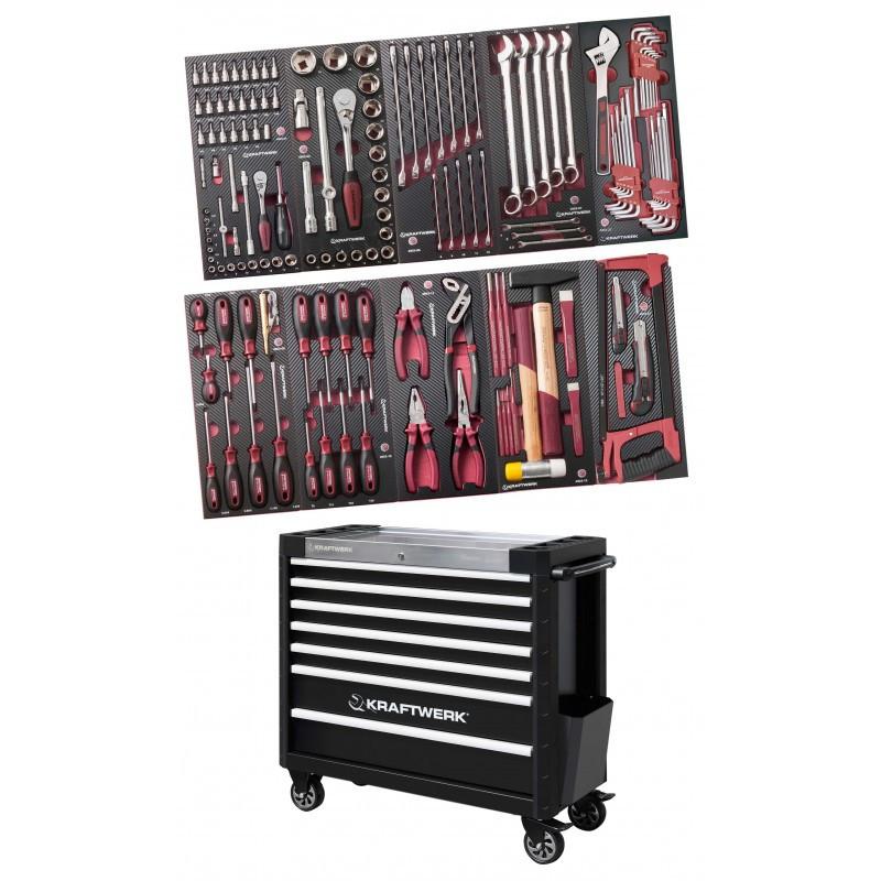 Servante d'atelier 7 tiroirs 169 outils COMPLETO EVA3 KRAFTWERK