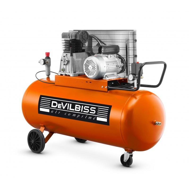 Compresseur d'air 90 L 3 Cv à piston marche lente DEVILBISS