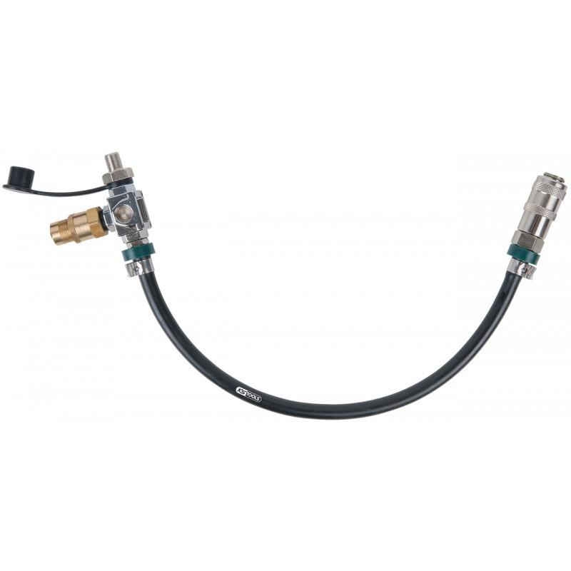 Tuyau raccord pour adaptateur étagé de test de pression de suralimentation de turbo KS TOOLS