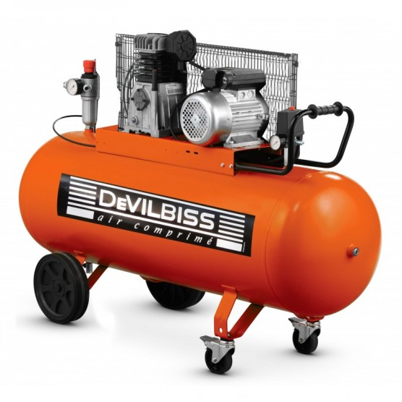 Compresseur d'air 150 L 3 Cv à piston marche lente DEVILBISS
