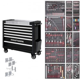 Servante d'atelier avec 7 tiroirs avec composition EVA 3 356 outils KRAFTWERK