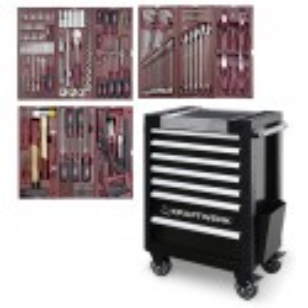 Servante d'atelier TRIO 7 tiroirs COMPLETO EDITION SPECIALE  191 outils KRAFTWERK