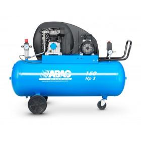 Compresseur d'air 150 L 3 Cv bi-cylindre ABAC