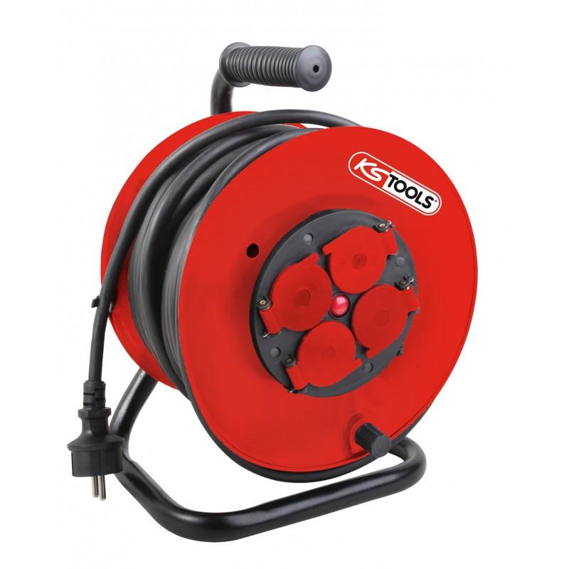 Enrouleur électrique sur touret 3 x 2.5 mm² KS TOOLS
