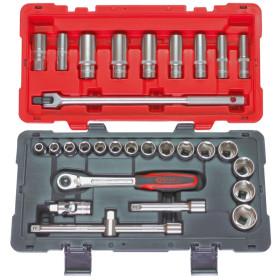 Coffret de douilles et accessoires en pouces ULTIMATE 1/2'', 30 pièces KS TOOLS