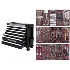 Servante d'atelier 7 tiroirs avec 330 Outils COMPLETO Cinco KRAFTWERK