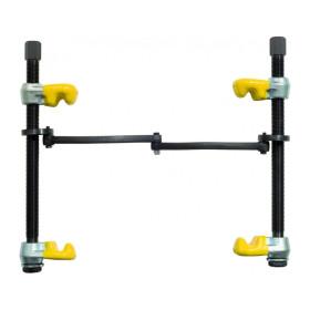 Compresseur de ressorts avec barre de sécurité et crochets avec revêtement plastifié KS TOOLS