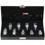 Coffret de 9 douilles tournevis ULTIMATE 6 pans KS TOOLS