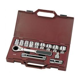 Coffret de douilles, cliquet et accessoires 13 outils 30 mm GearRatchet KRAFTWERK