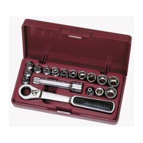 Coffret de douilles, cliquet et accessoires 17 outils 13 mm GearRatchet KRAFTWERK