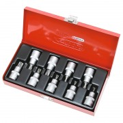 "Coffret de 9 douilles tournevis ULTIMATE 1/2"" TORX percé KS TOOLS"