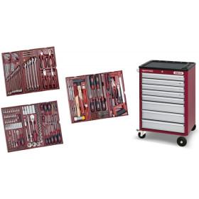 Servante 8 tiroirs HIGHTECH + 191 outils Kraftwerk