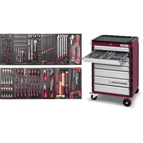 Servante d'atelier 8 tiroirs avec 192 outils COMPLETO EVA3 HIGHTECH KRAFTWERK
