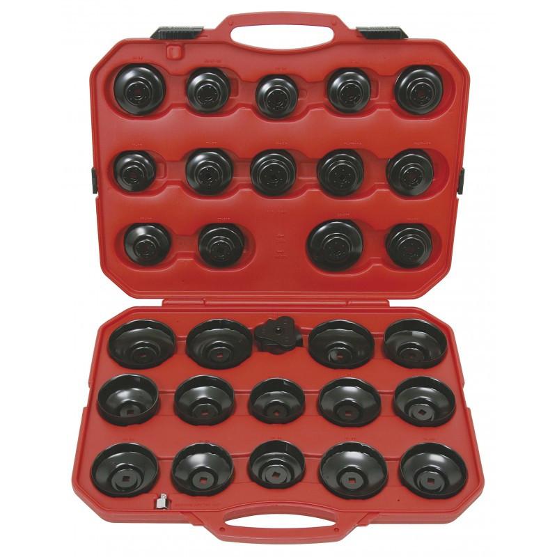 Coffret de cloches pour couvercles et filtres à huile KS TOOLS