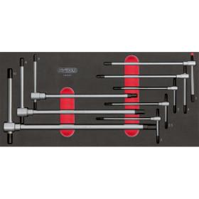 Module de clés mâles 6 pans à poignée en T, 8 pièces KS TOOLS