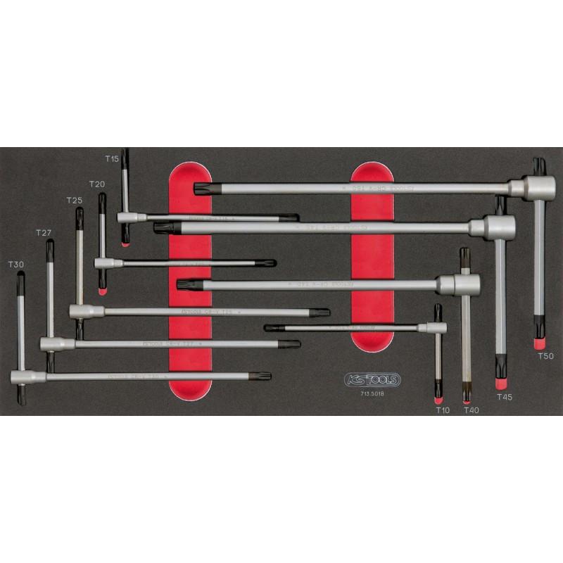 Module de clés mâles TORX à poignée en T, 9 pièces KS TOOLS