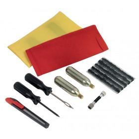 Kit de réparation de pneus avec accessoires de gonflage 10 pièces KS TOOLS