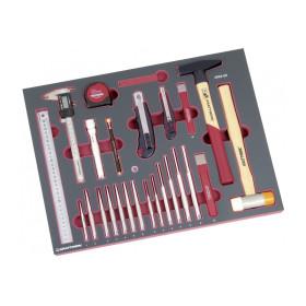 Module 40 pièces d'outils Frappe plus Mesure et Coupe COMPLETO EVA KRAFTWERK