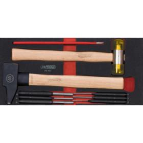 Module d'outils de frappe manche bois, 9 pièces KS TOOLS