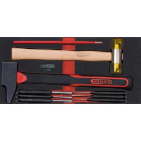 Module d'outils de frappe manche fibre, 9 pièces  KS TOOLS