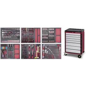 Servante d'atelier complète 8 tiroirs COMPLETO EVA, 276 pièces KRAFTWERK