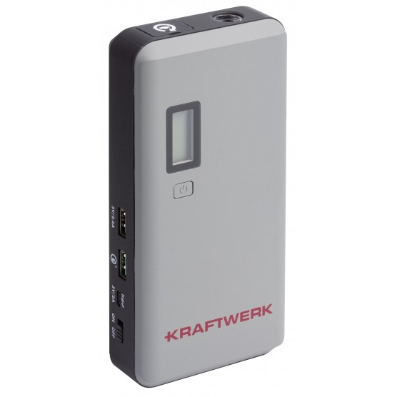 Booster de démarrage + Powerbank 12V, 400CA - 800PA, 37Wh KRAFTWERK
