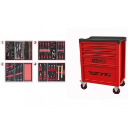 Servante 5 Tiroirs RACING EDITION + Composition 241 outils KS TOOLS