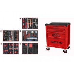 Servante 5 Tiroirs RACING EDITION + Composition 283 outils KS TOOLS