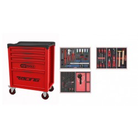 Servante RACING 5 tiroirs équipée - SPECIAL ROUE, 60 pièces KS TOOLS