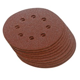 10 disques abrasifs perforés auto-agrippants 125 mm SILVERLINE