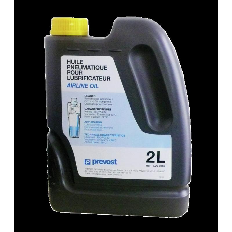 Huile pneumatique pour lubrificateurs, outillages pneumatiques 2L Prevost