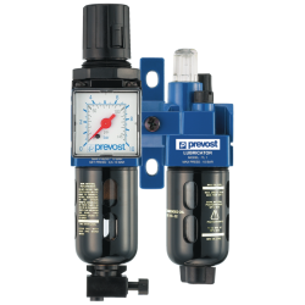 ALTO 1 - Filtre régulateur lubrificateur 2 blocs avec manomètre et fixation