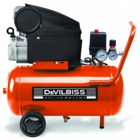 Compresseur d'air 2 Cv à piston Réservoir 24 Litres DEVILBISS