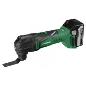 Découpeur - Ponceur Multi-Tool 18 V 5.0Ah + 2 Batteries + Chargeur + accessoires en coffret HIKOKI