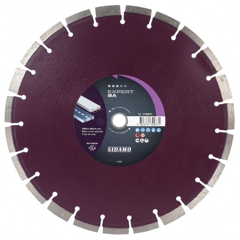Disque diamant à segment 350 mm EXPERT BA SIDAMO