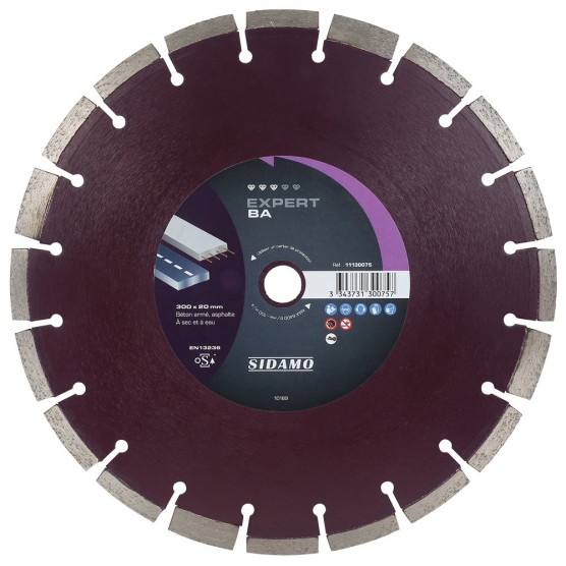 Disque diamant à segment 300 mm EXPERT BA SIDAMO