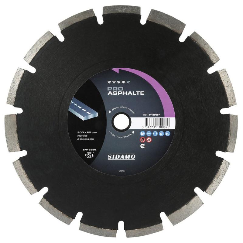 Disque diamant à segment 300 mm PRO ASPHALTE SIDAMO