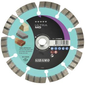Disque Diamant et Carbure à segment ULTRA MD 125mm Tronçonnage matériaux durs SIDAMO
