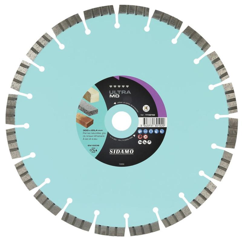 Disque diamant à segment 300 mm ULTRA MD SIDAMO