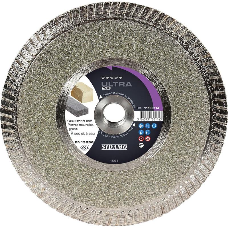 Disque Diamant et Carbure à segment 125 mm  ULTRA 2D SIDAMO